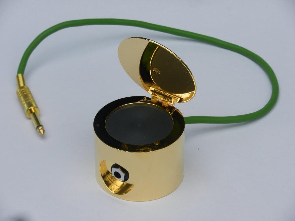 340 - Speichergerät, vergoldet - G1102